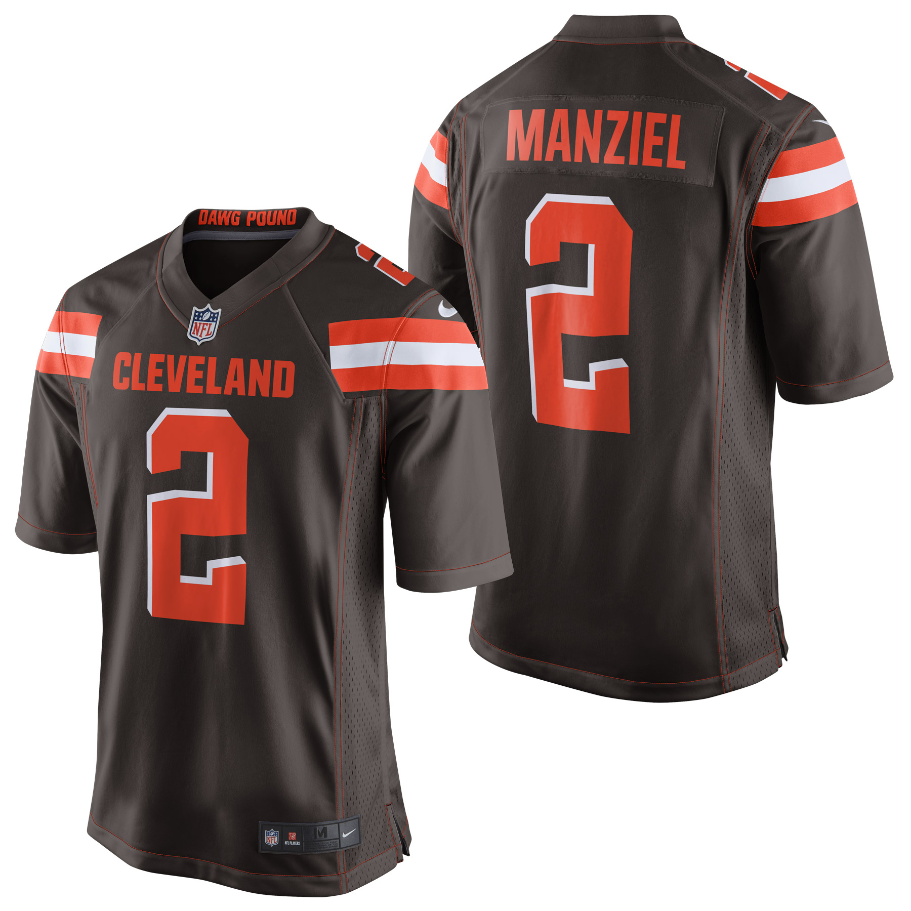 Cleveland Browns Home Game Jersey - Johnny Manziel