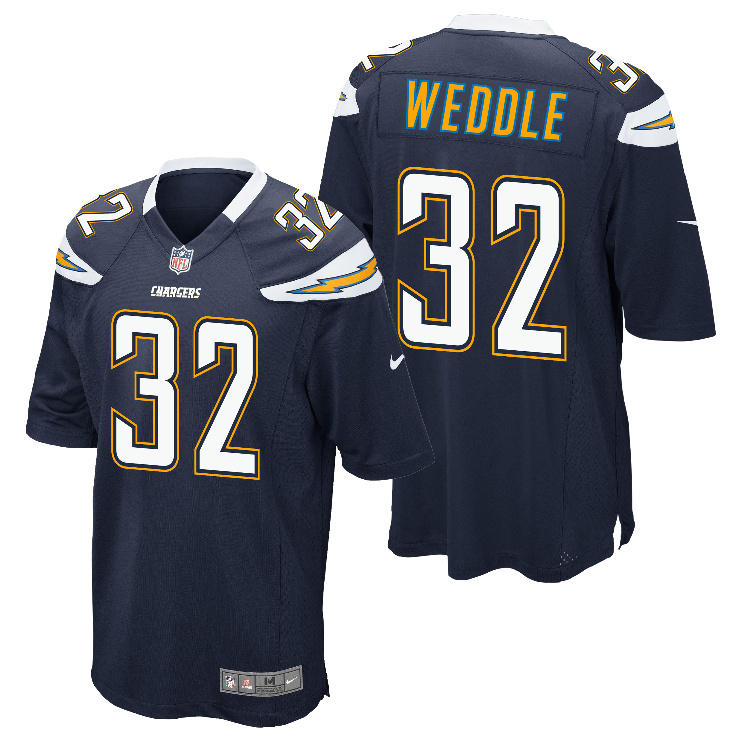 San Diego Chargers Home Game Jersey - Eric Weddle