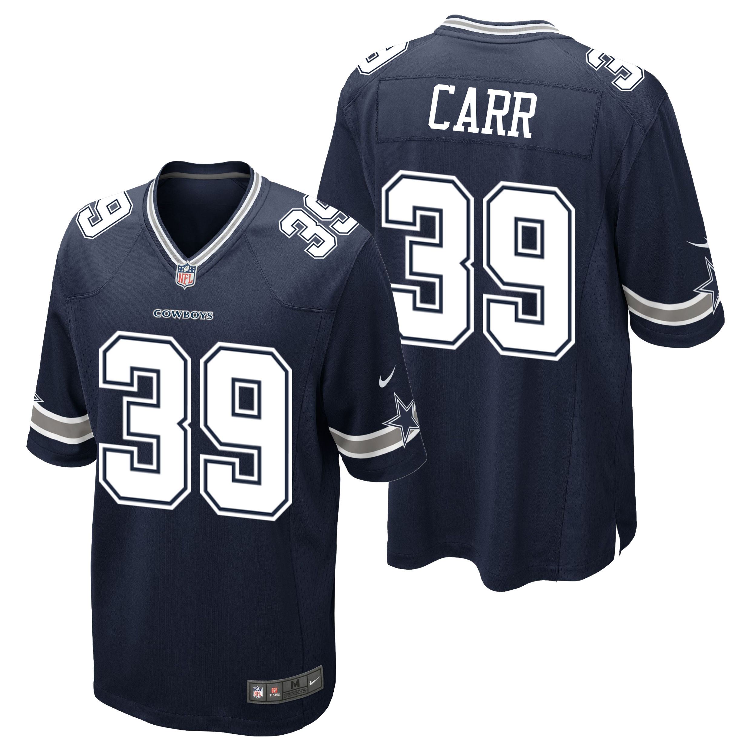 Dallas Cowboys Home Game Jersey - Brandon Carr