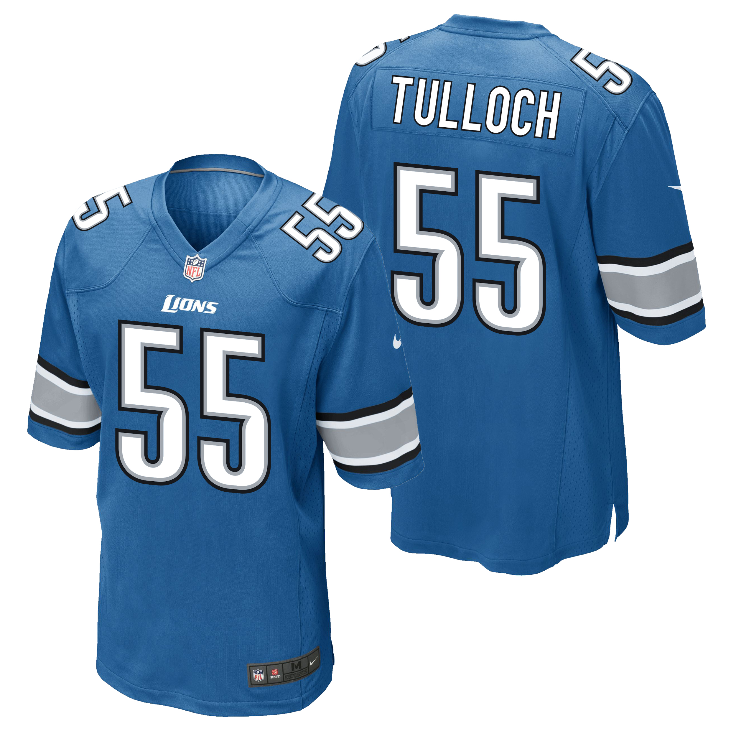 Detroit Lions Home Game Jersey - Stephen Tulloch
