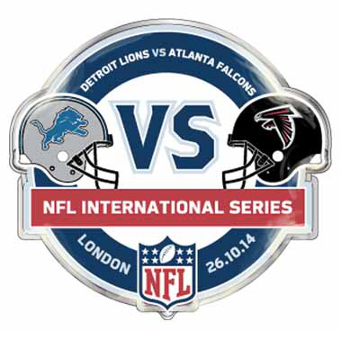NFL Lions Vs Falcons International Series Game 10 Badge