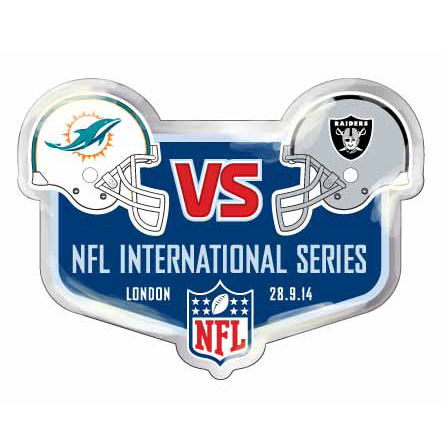 NFL Dolphins Vs Raiders International Series Game 9 Badge