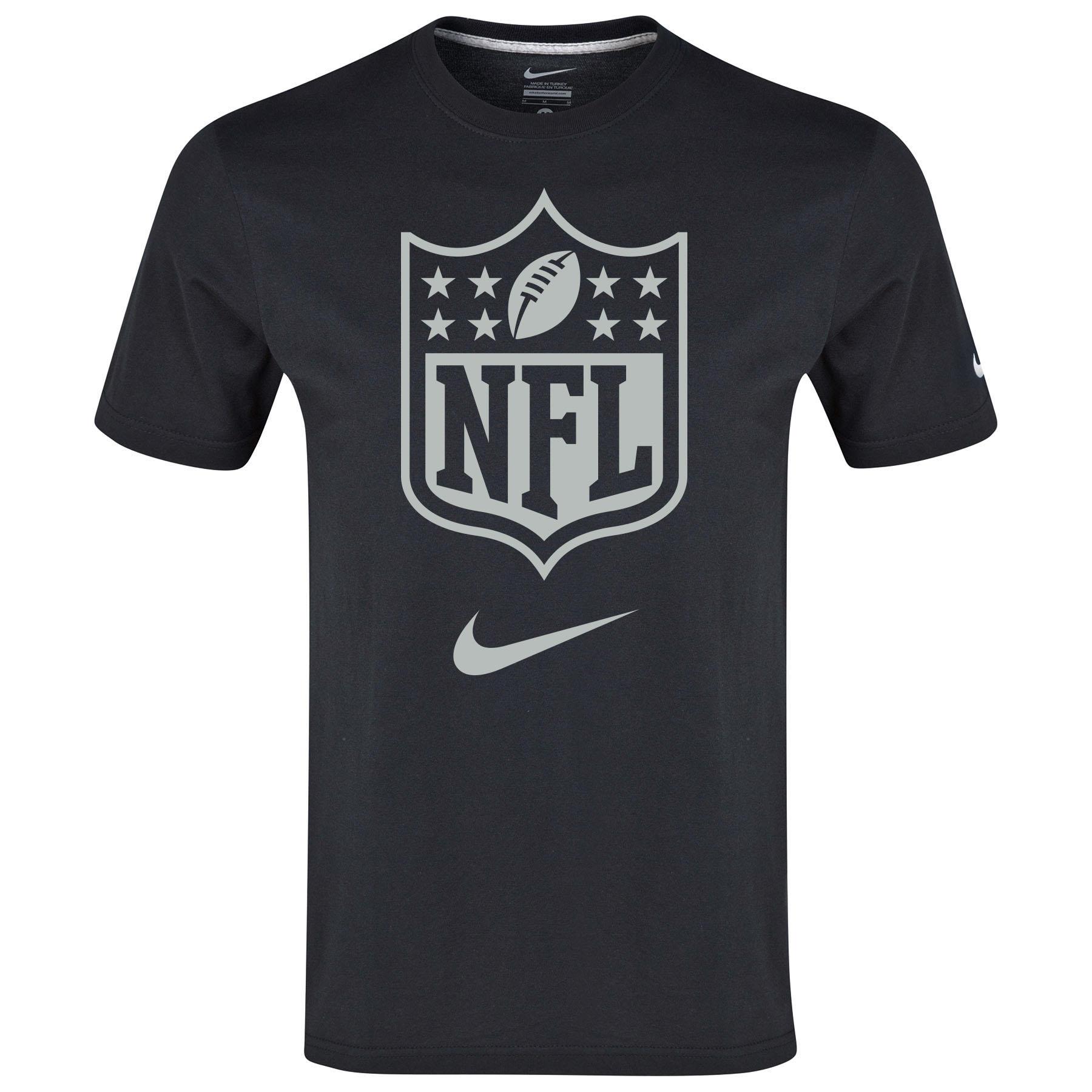 NFL Shield T-Shirt Black