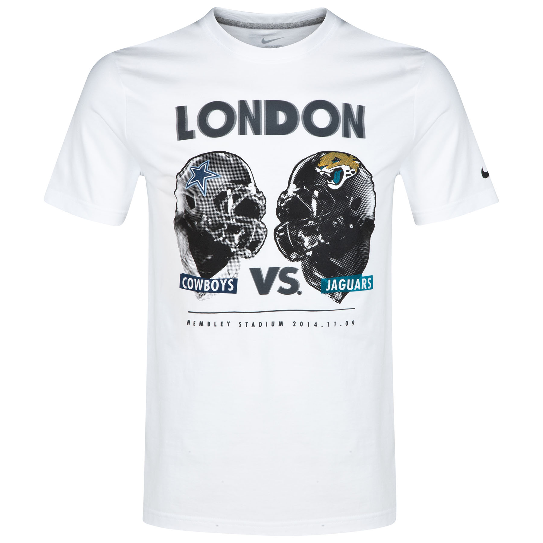 NFL Nike International Series Game 11 Cowboys vs Jaguars T-Shirt White