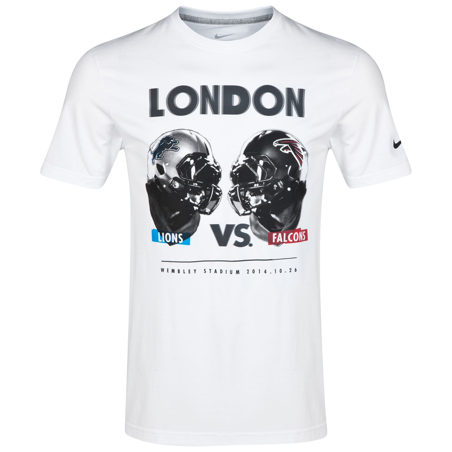 NFL Nike ISG Lions vs Falcons T-Shirt White