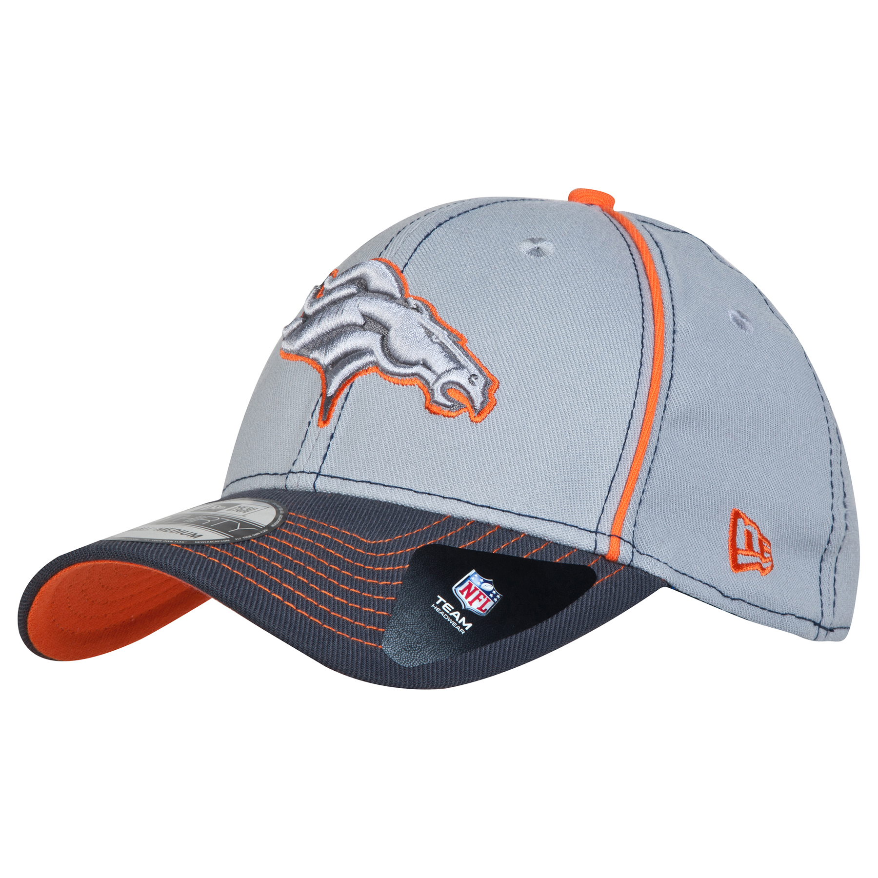 Denver Broncos Grafpipe Classic 39THIRTY Stretch Fit Cap
