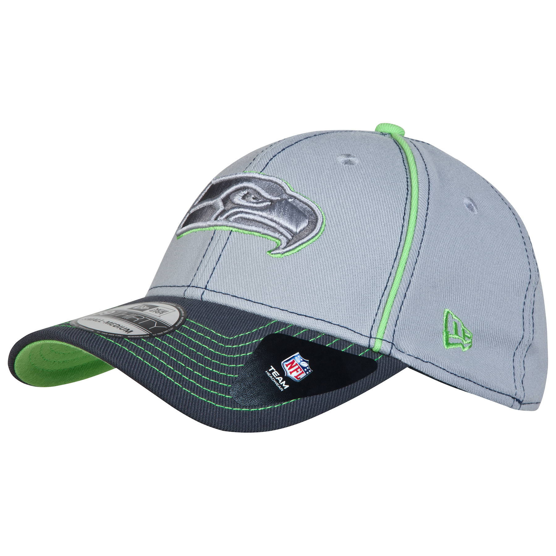 Seattle Seahawks Grafpipe Classic 39THIRTY Stretch Fit Cap