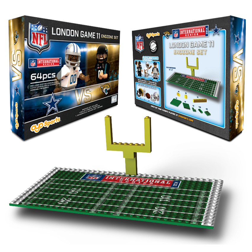 NFL International Series Dallas Cowboys vs Jacksonville Jaguars Endzone Set