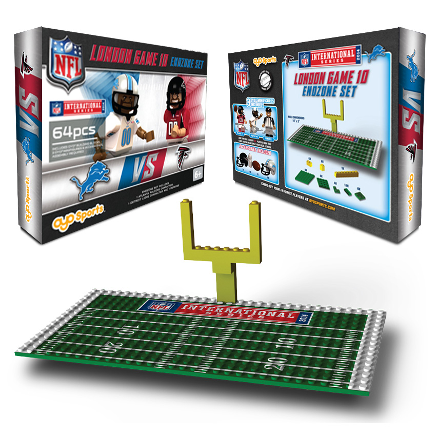 NFL International Series Atlanta Falcons vs Detroit Lions Endzone Set