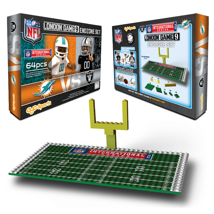 NFL International Series Miami Dolphins vs Oakland Raiders Endzone Set
