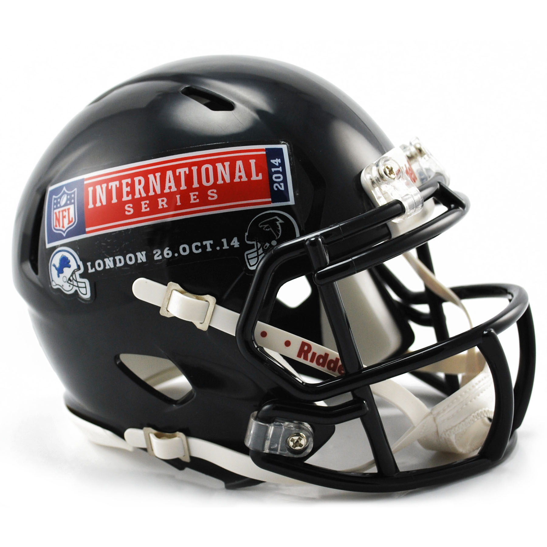 NFL Lions Vs Falcons International Series Game 10 VSR4 Mini Helmet