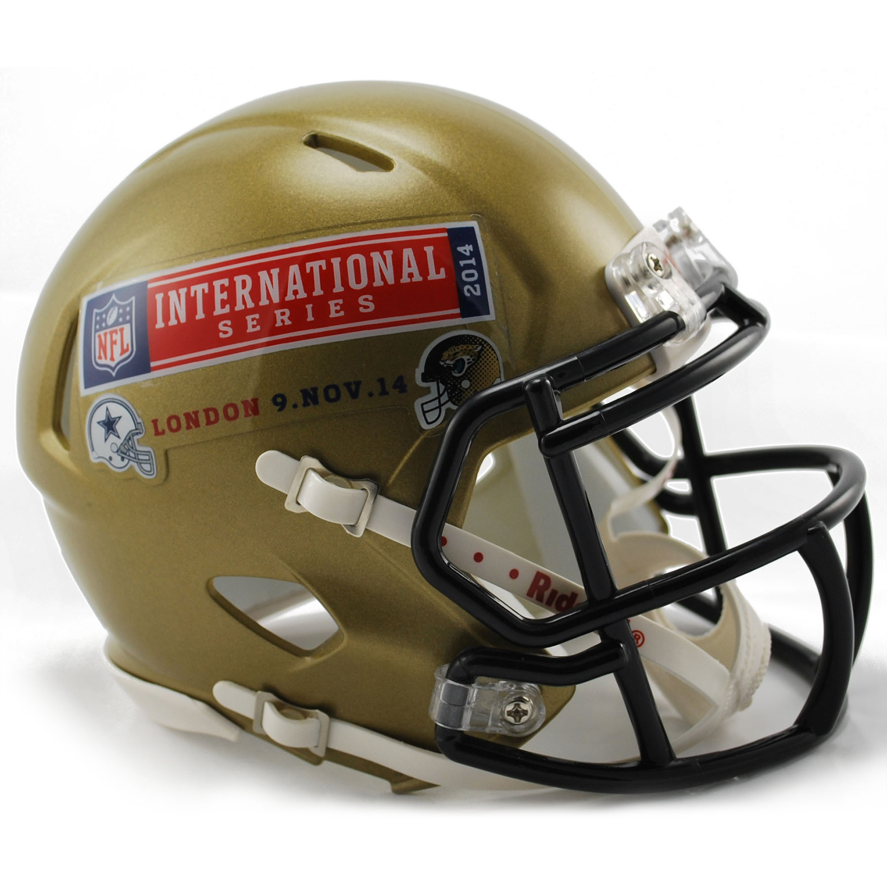NFL Cowboys Vs Jaguars International Series Game 11 VSR4 Mini Helmet