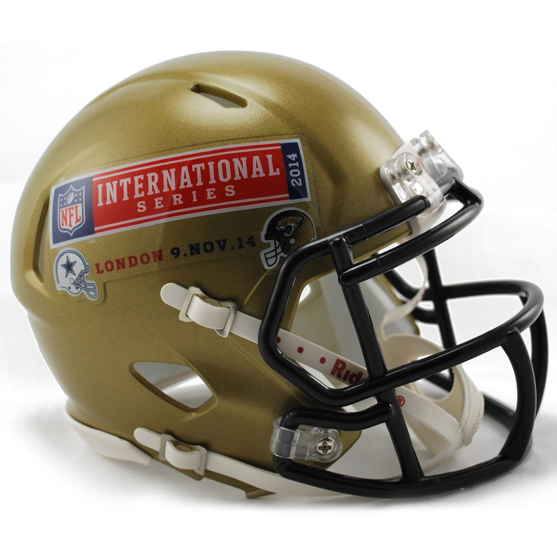 NFL Cowboys Vs Jaguars International Series Game 11 VSR4 Mini Helmet