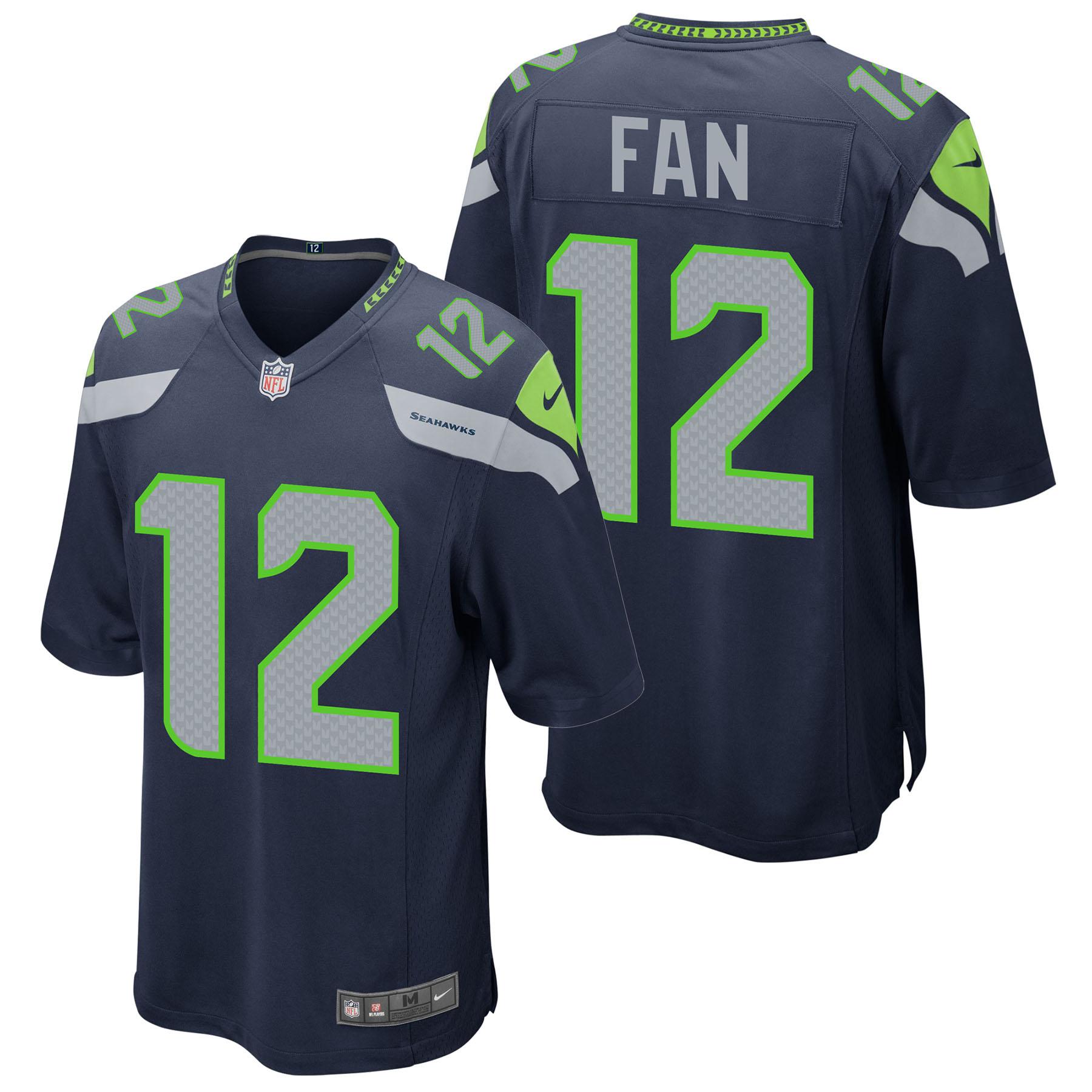 Seattle Seahawks Home Game Jersey - Fan 12
