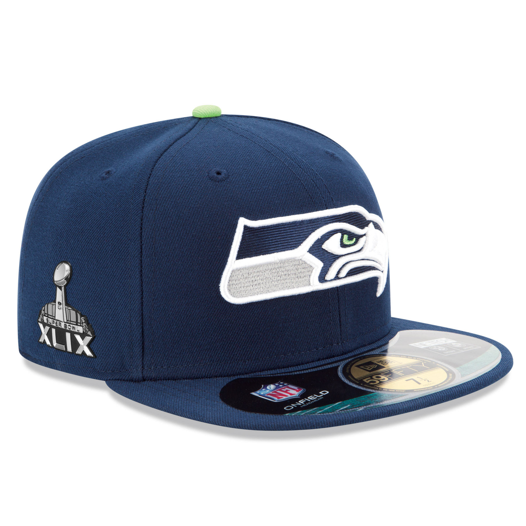 Seattle Seahawks New Era 59FIFTY Super Bowl XLIX Fitted Cap