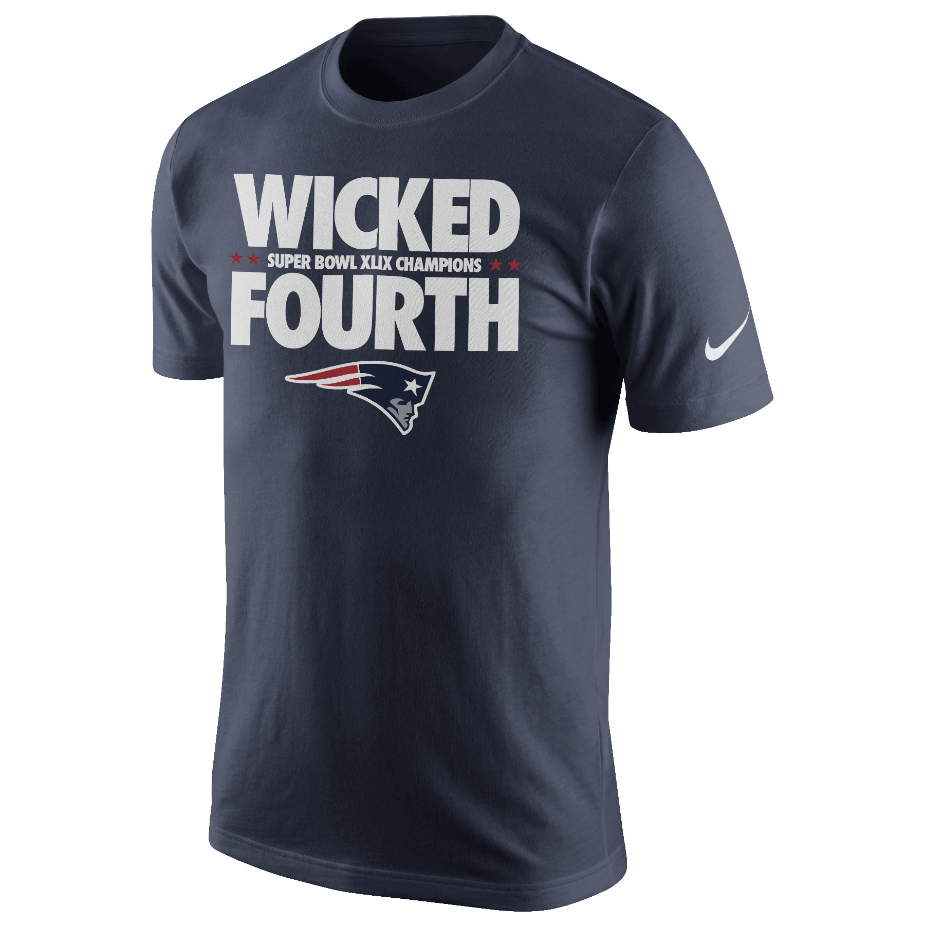 New England Patriots Nike Super Bowl XLIX Champions Wicked Fourth T-Shirt Navy