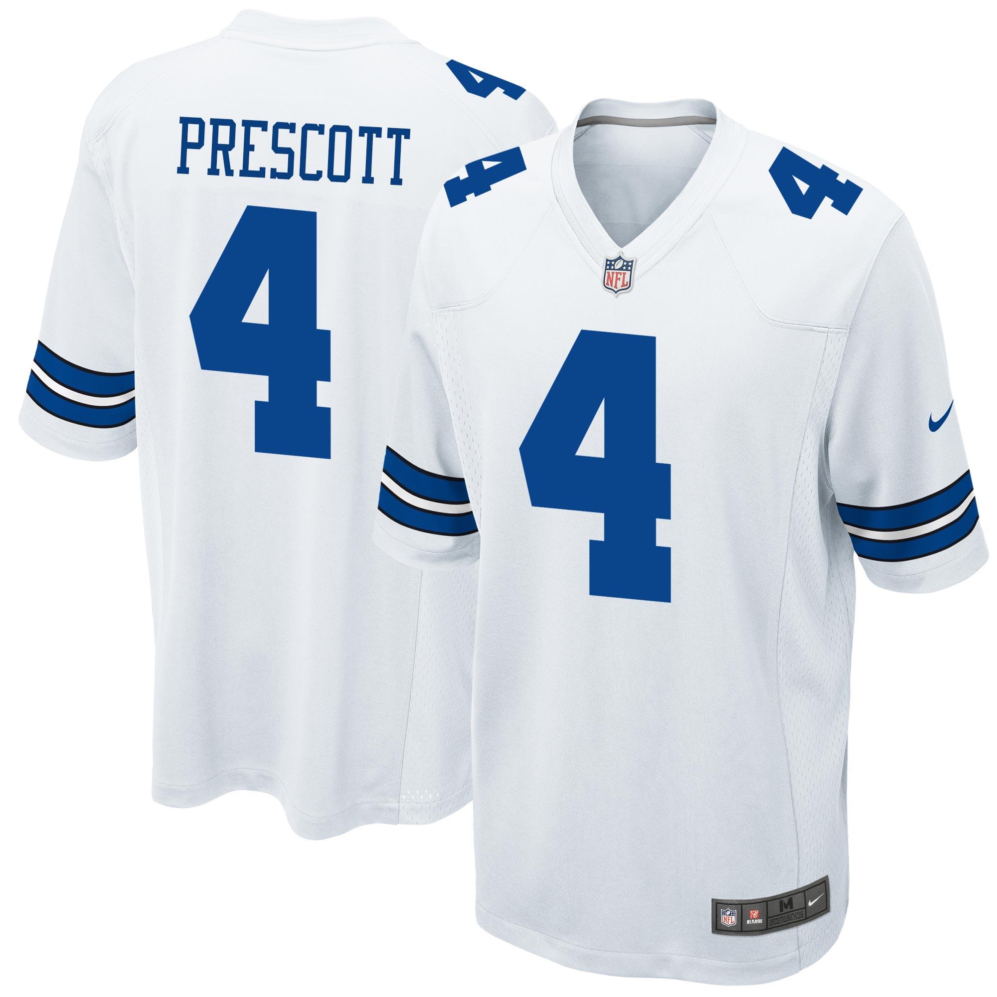 Dallas Cowboys Auswärtstrikot – Dak Prescott