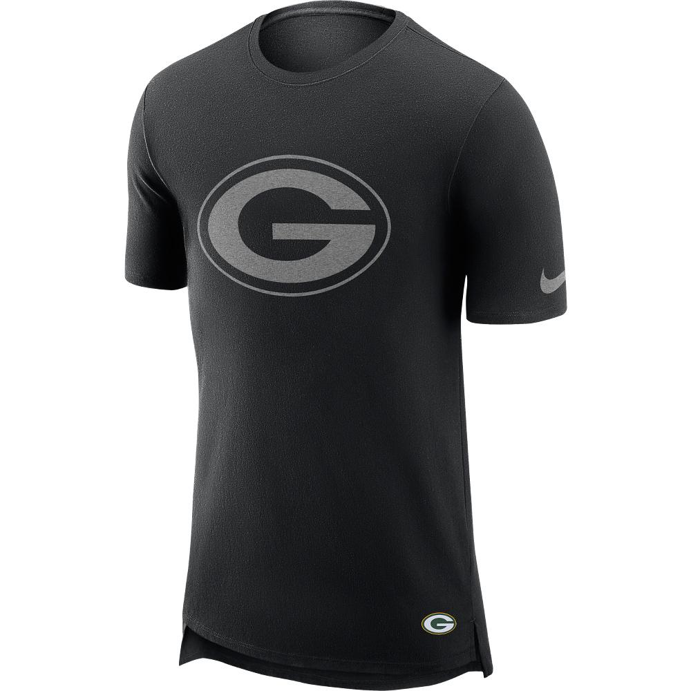 Green Bay Packers T-Shirt in Enzymwaschung mit verlängertem Rücken – Herren
