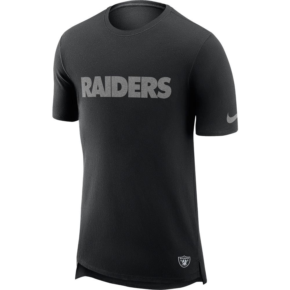 Las Vegas Raiders T-Shirt in Enzymwaschung mit verlängertem Rücken – Herren
