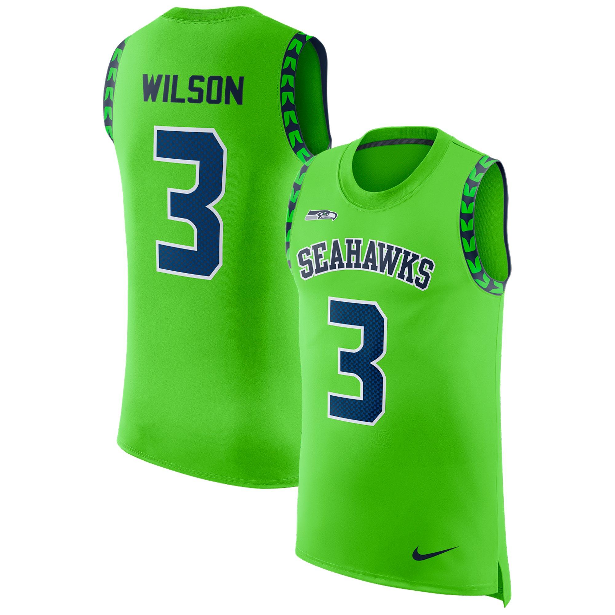 Seattle Seahawks Russell Wilson Color Rush Spieler-Tanktop – Herren