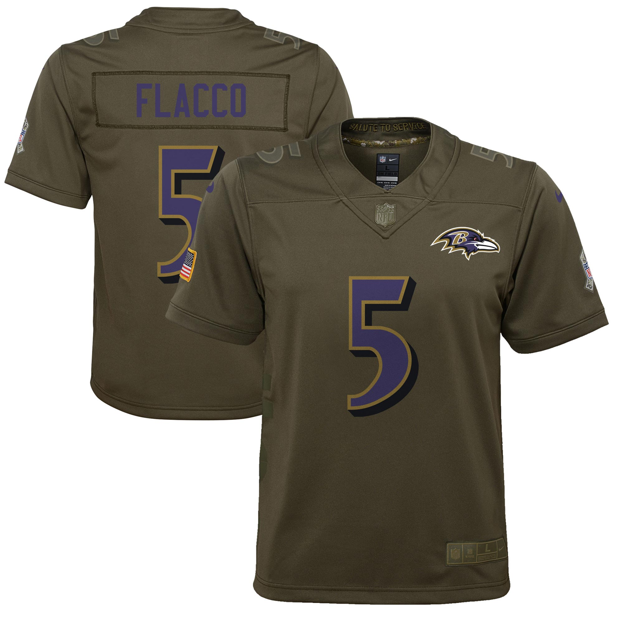 Baltimore Ravens Salute to Service Trikot – Joe Flacco – Jugendliche