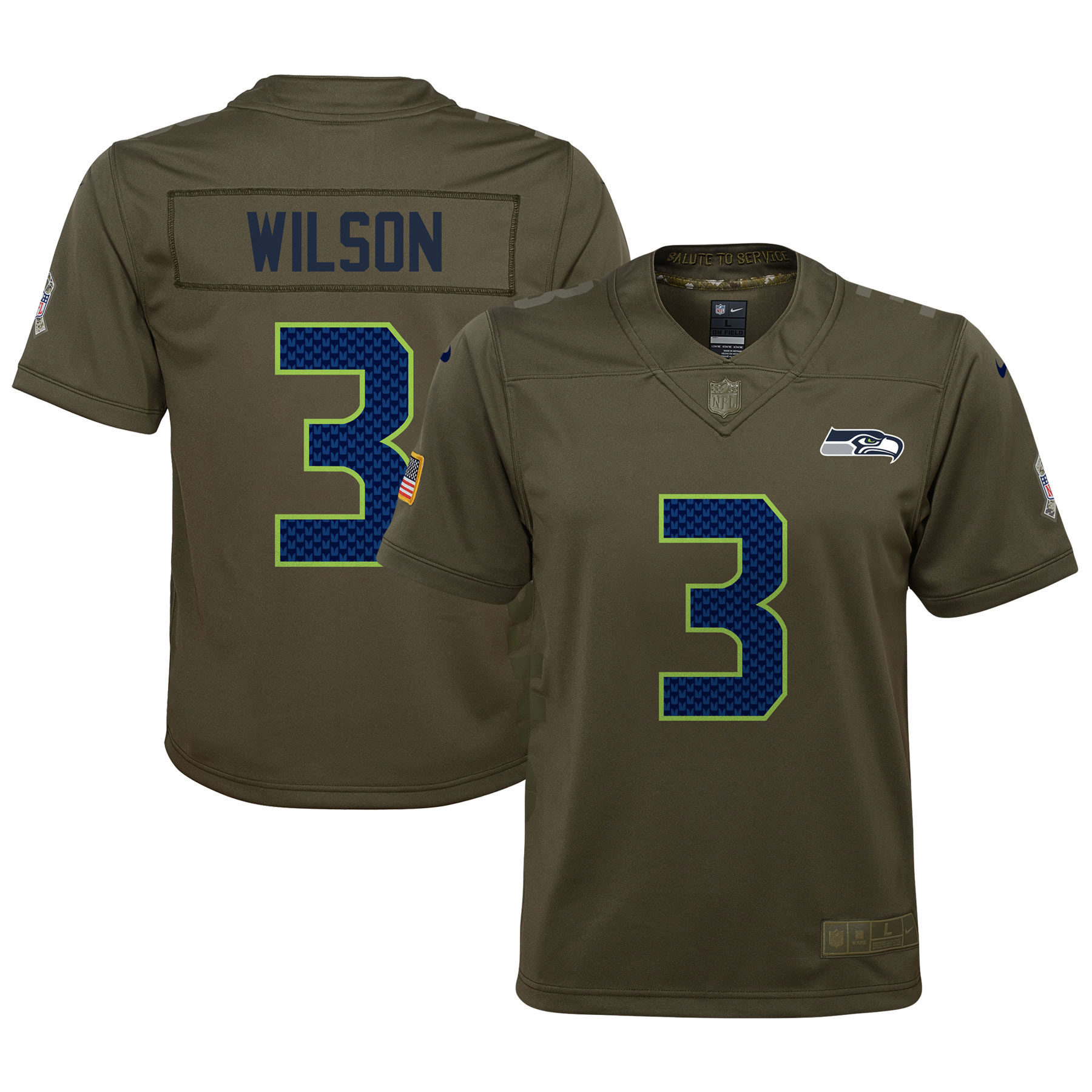 Seattle Seahawks Salute to Service Trikot – Russell Wilson – Jugendliche