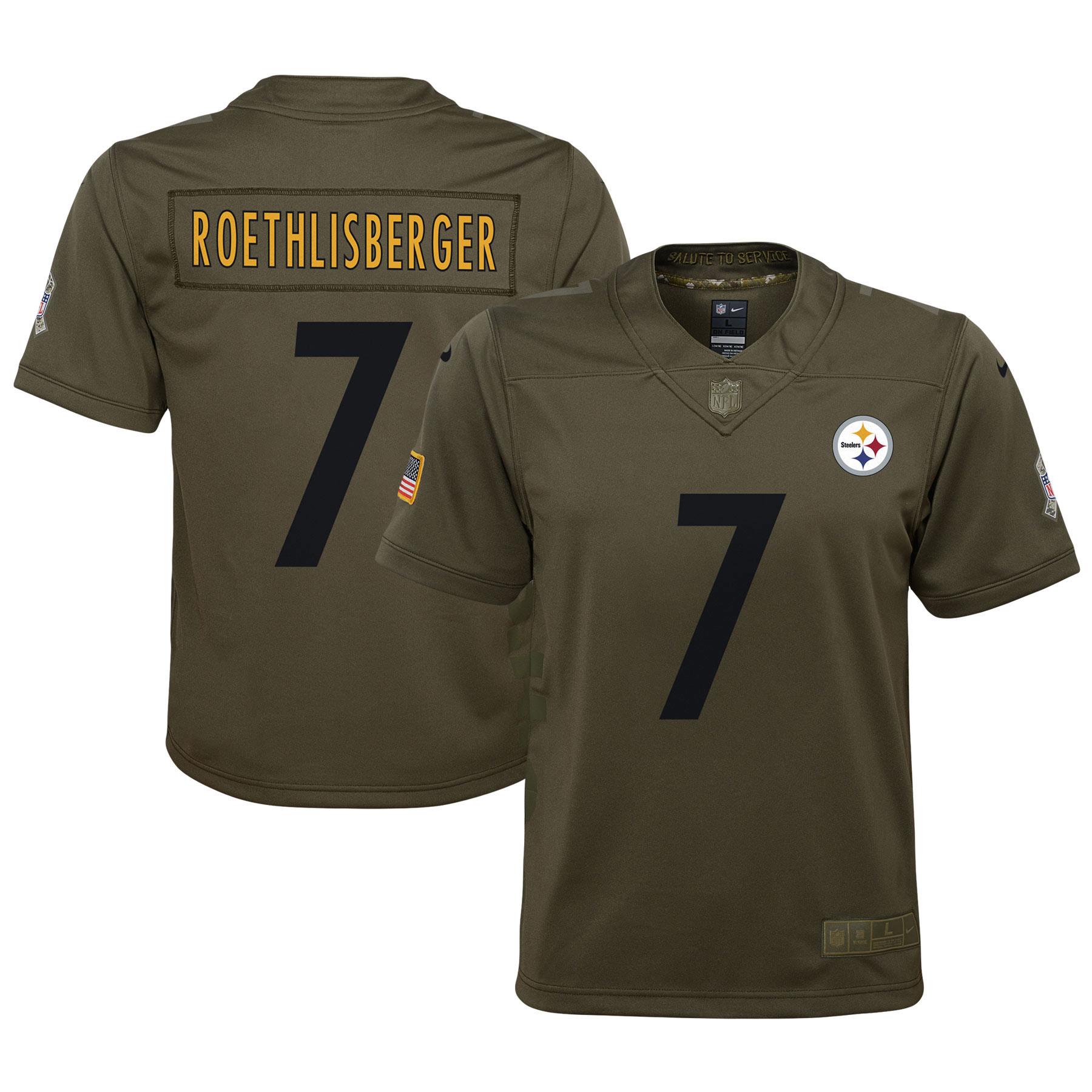 Pittsburgh Steelers Salute to Service Trikot – Ben Roethlisberger – Jugendliche