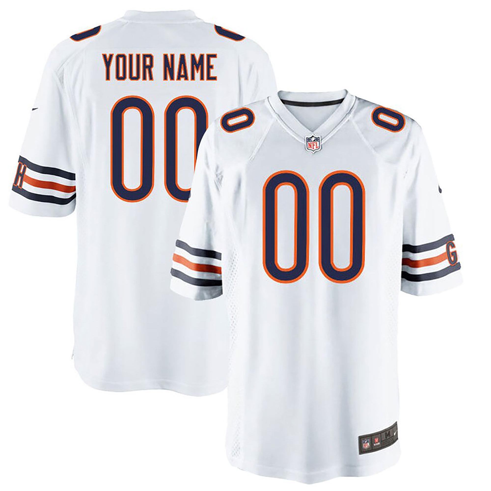 Chicago Bears Road Game Jersey - Custom - Mens