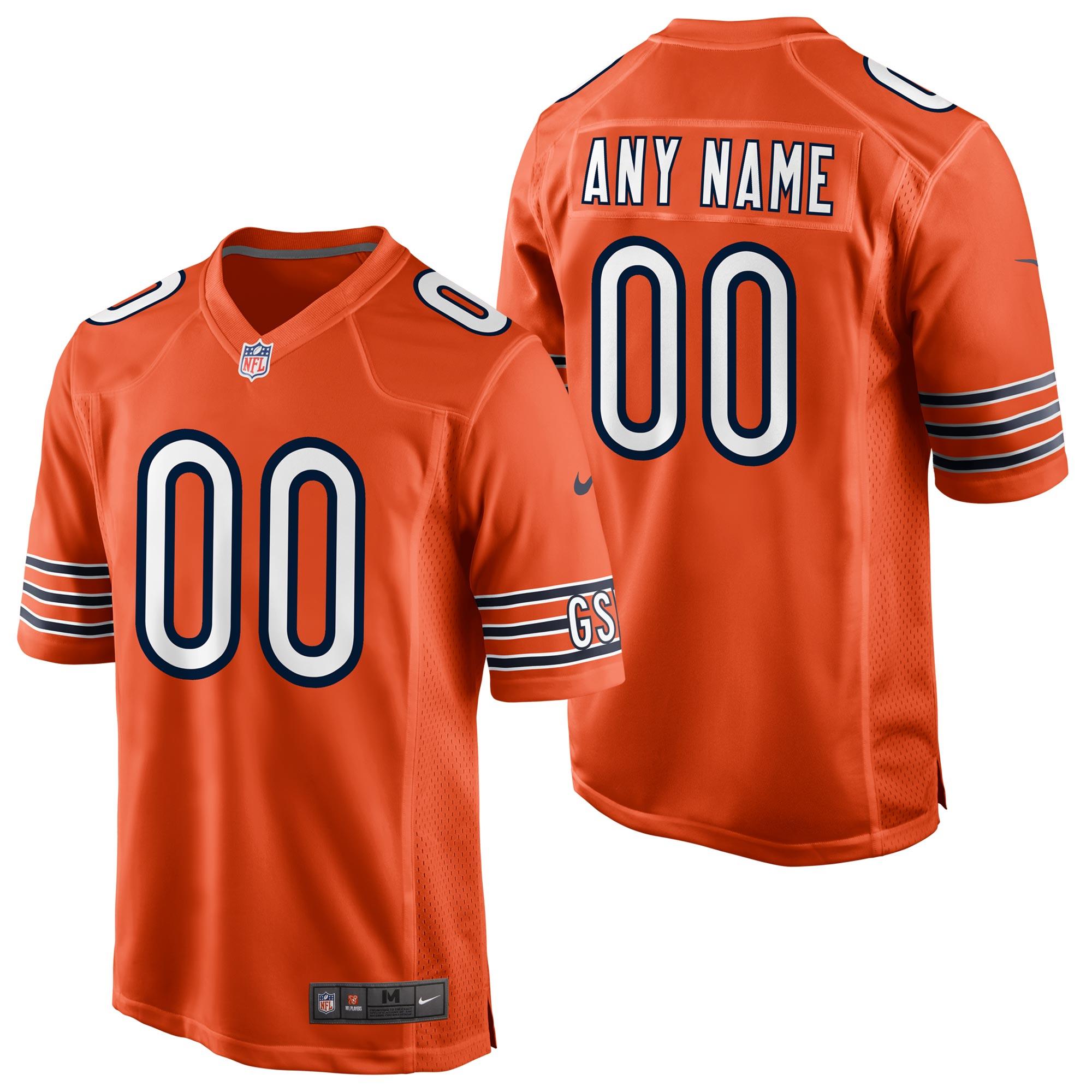 Chicago Bears Alternate Game Jersey - Custom - Mens