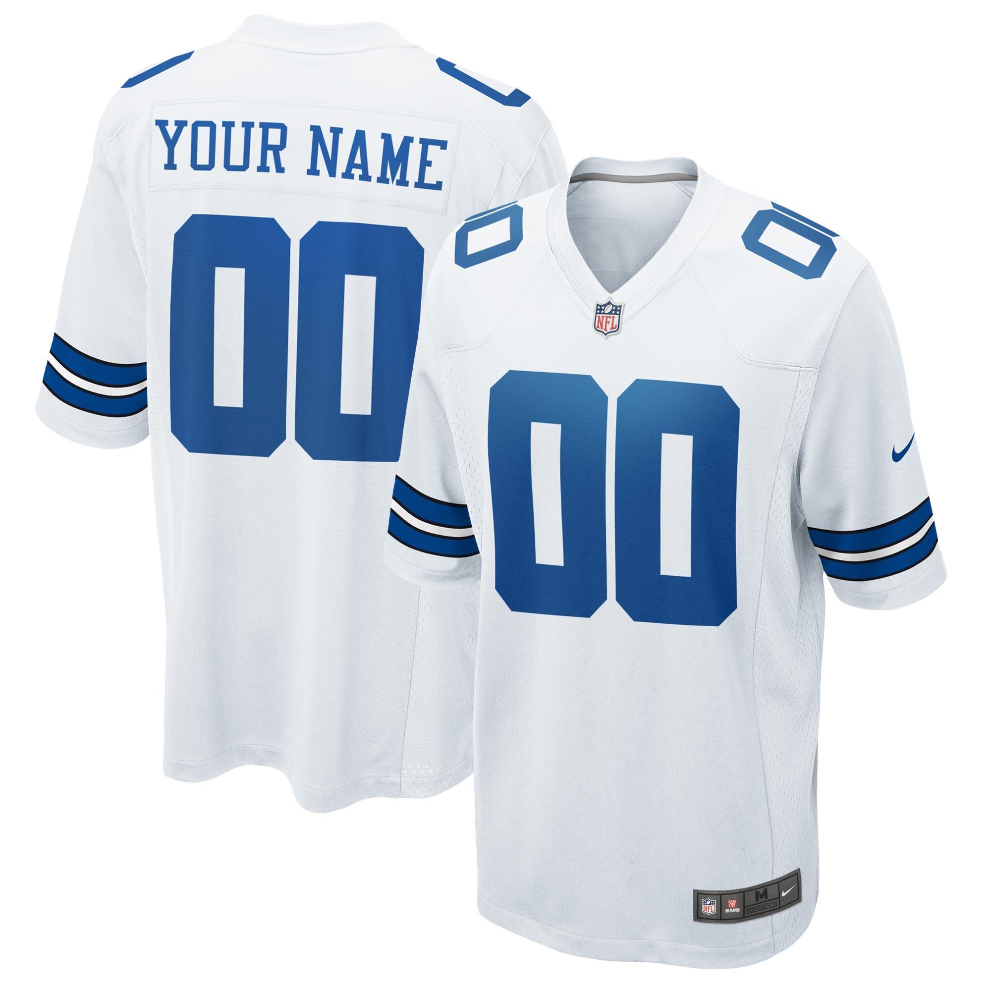 Dallas Cowboys Auswärtsspieltrikot - maßgeschneidert - Jugendliche