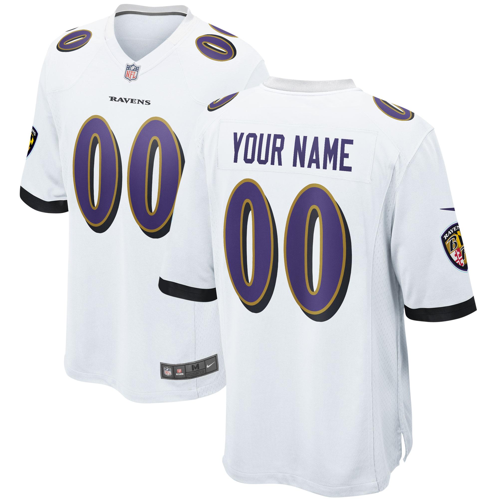 Baltimore Ravens Auswärtsspieltrikot - maßgeschneidert - Jugendliche