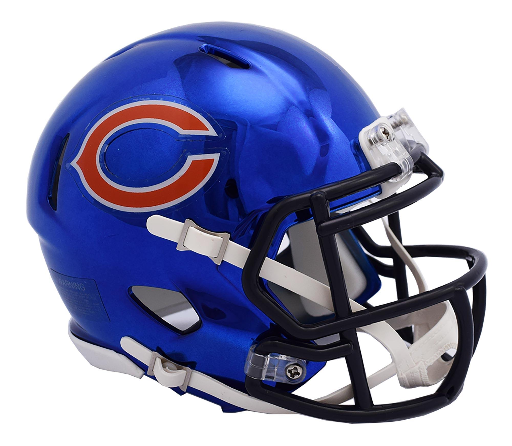 Chicago Bears Chrome Ausweich-Speed-Minihelm