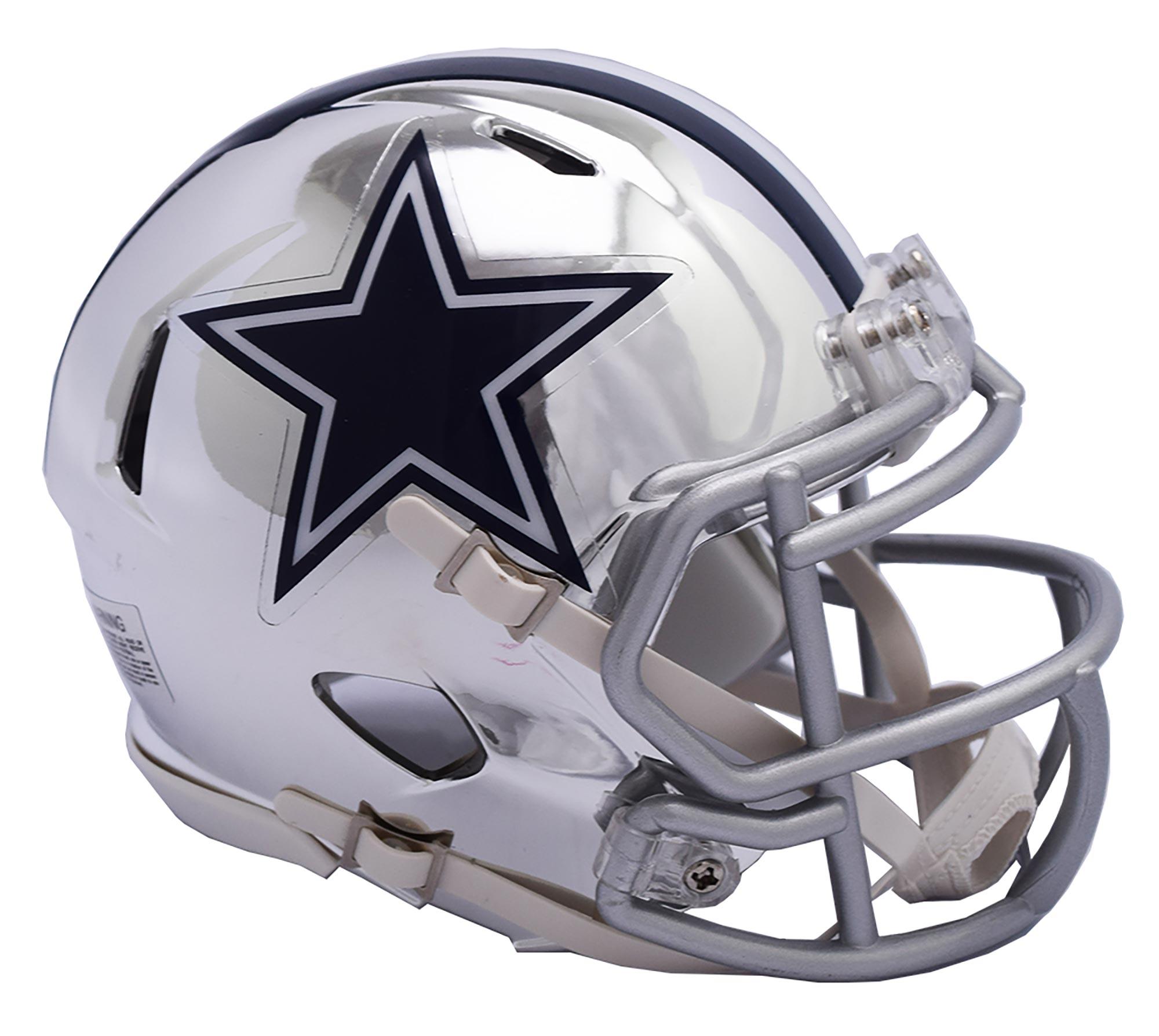 Dallas Cowboys Chrome Ausweich-Speed-Minihelm