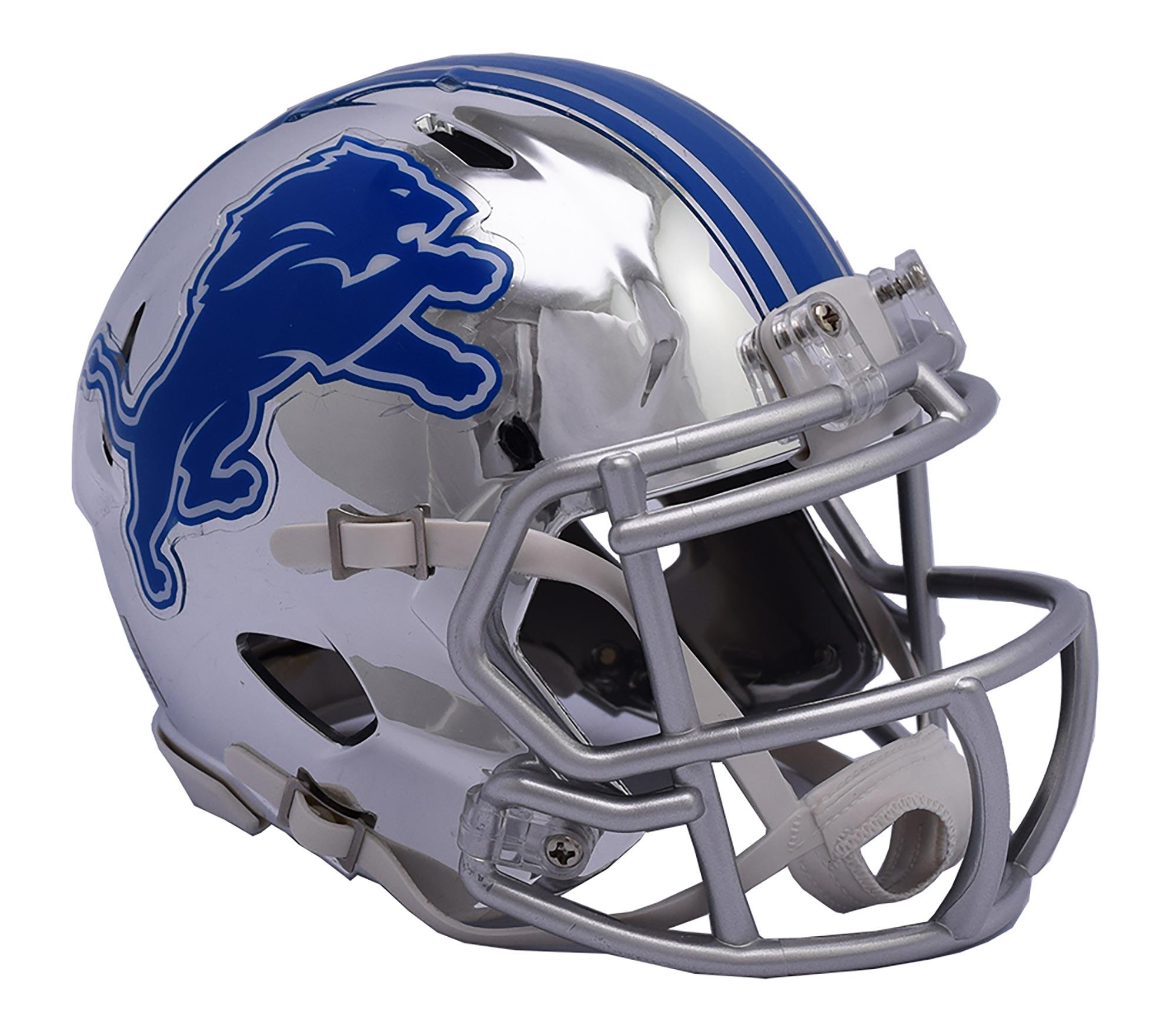 Detroit Lions Chrome Ausweich-Speed-Minihelm