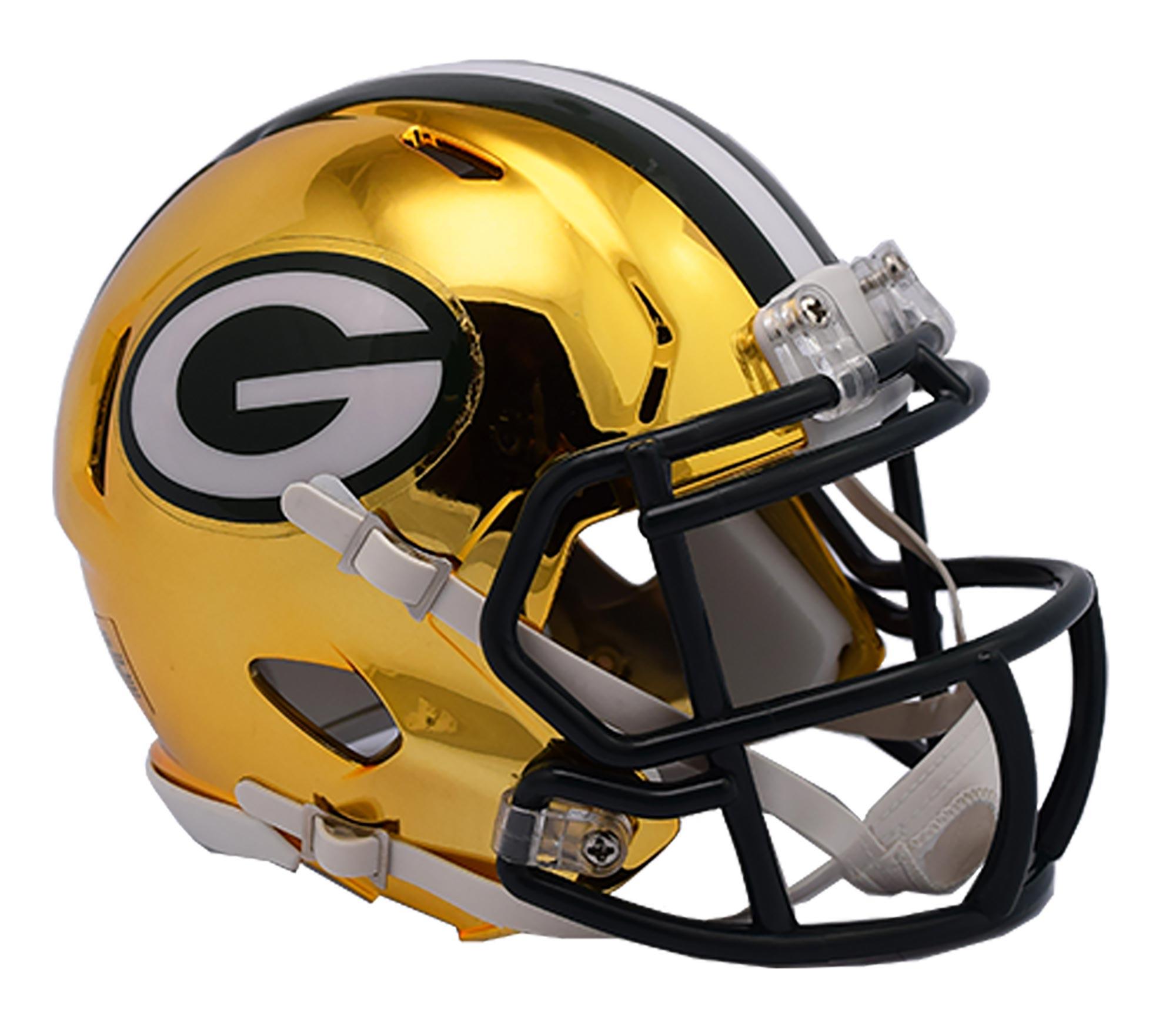 Green Bay Packers Chrome Ausweich-Speed-Minihelm