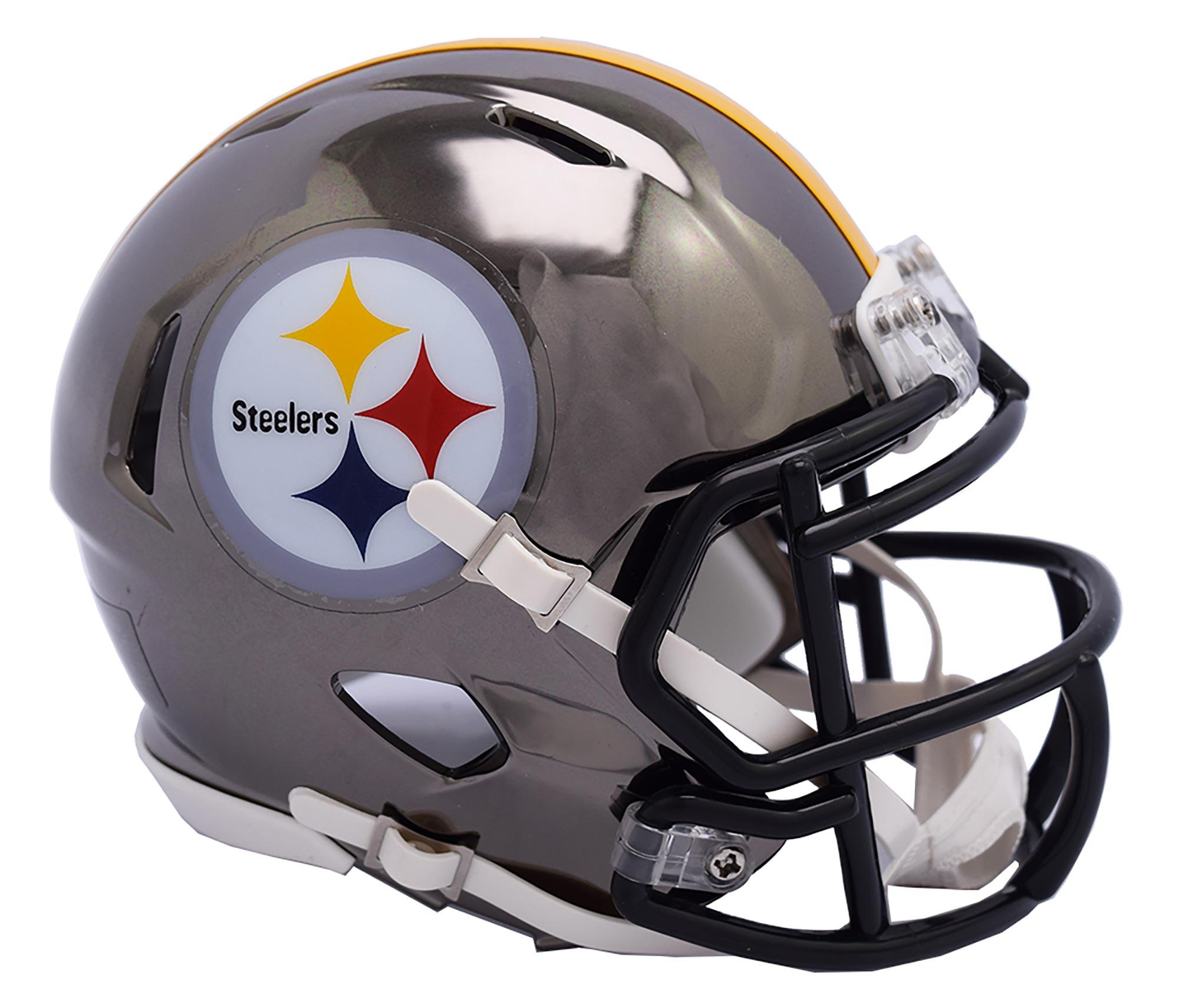 Pittsburgh Steelers Chrome Ausweich-Speed-Minihelm