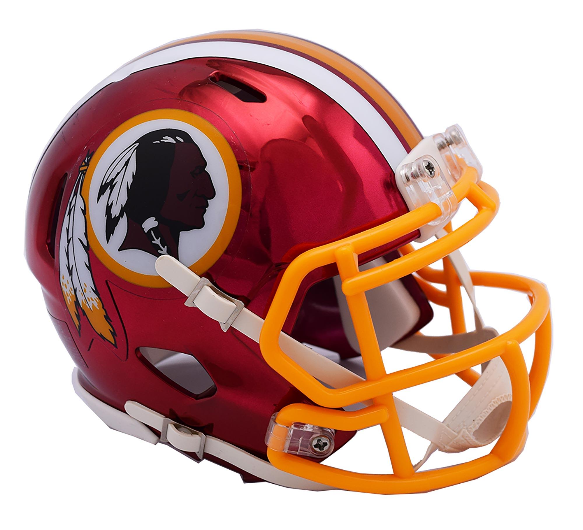 Washington Redskins Chrome Ausweich-Speed-Minihelm