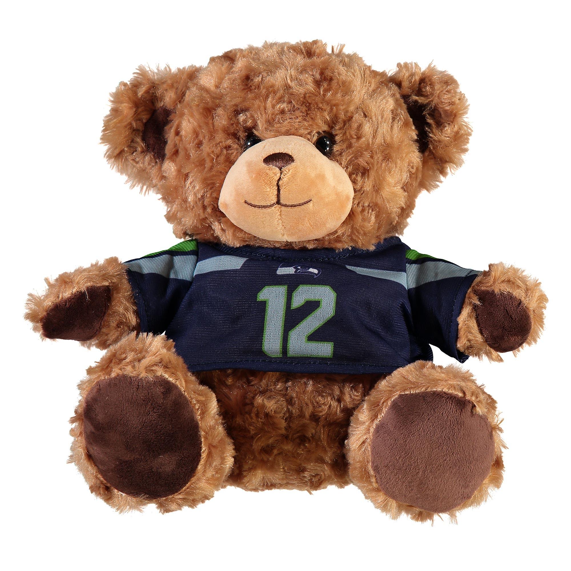 Seattle Seahawks 10 Inch Jersey Bear