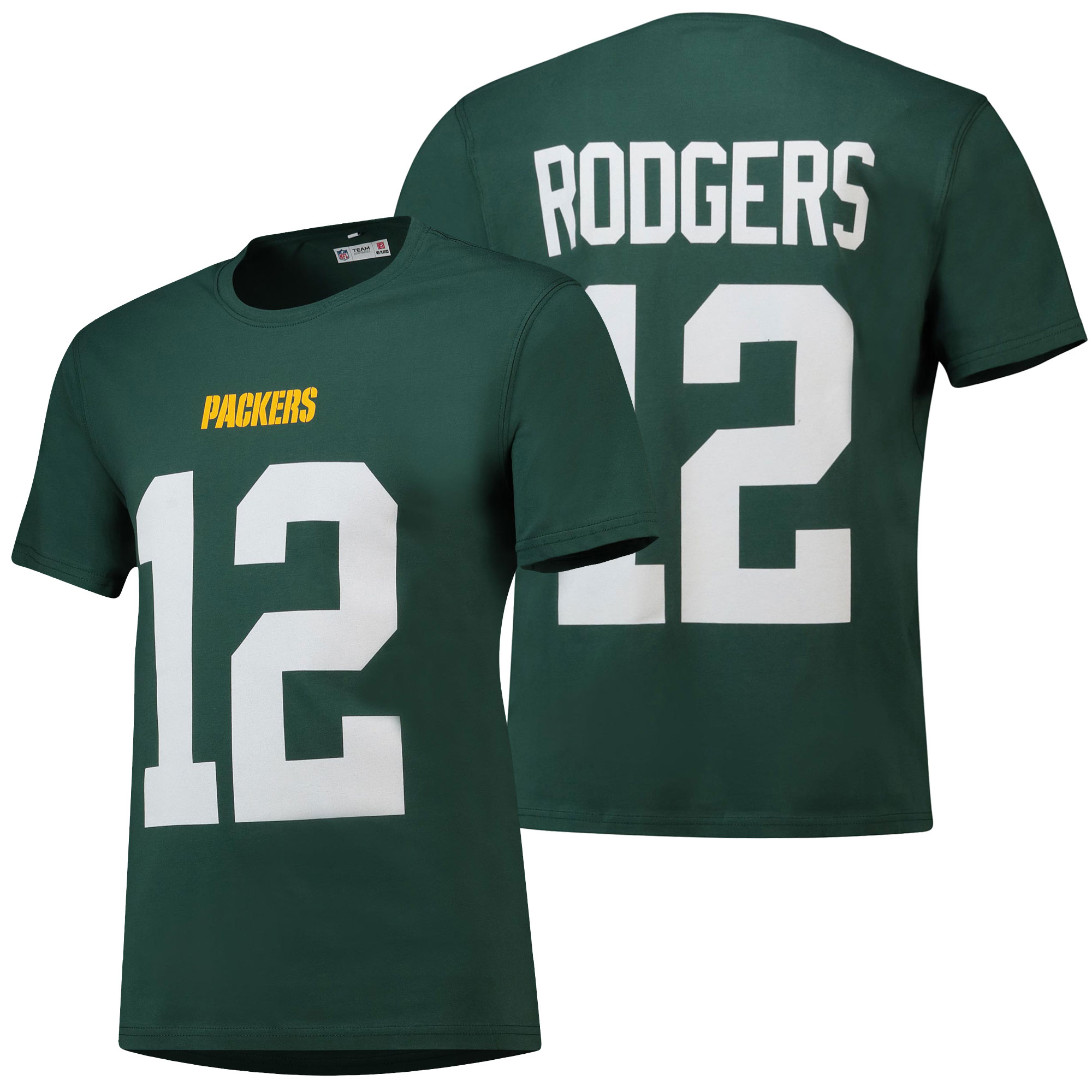 Green Bay Packers Core Rodgers Number T-Shirt - Dark Green - Mens