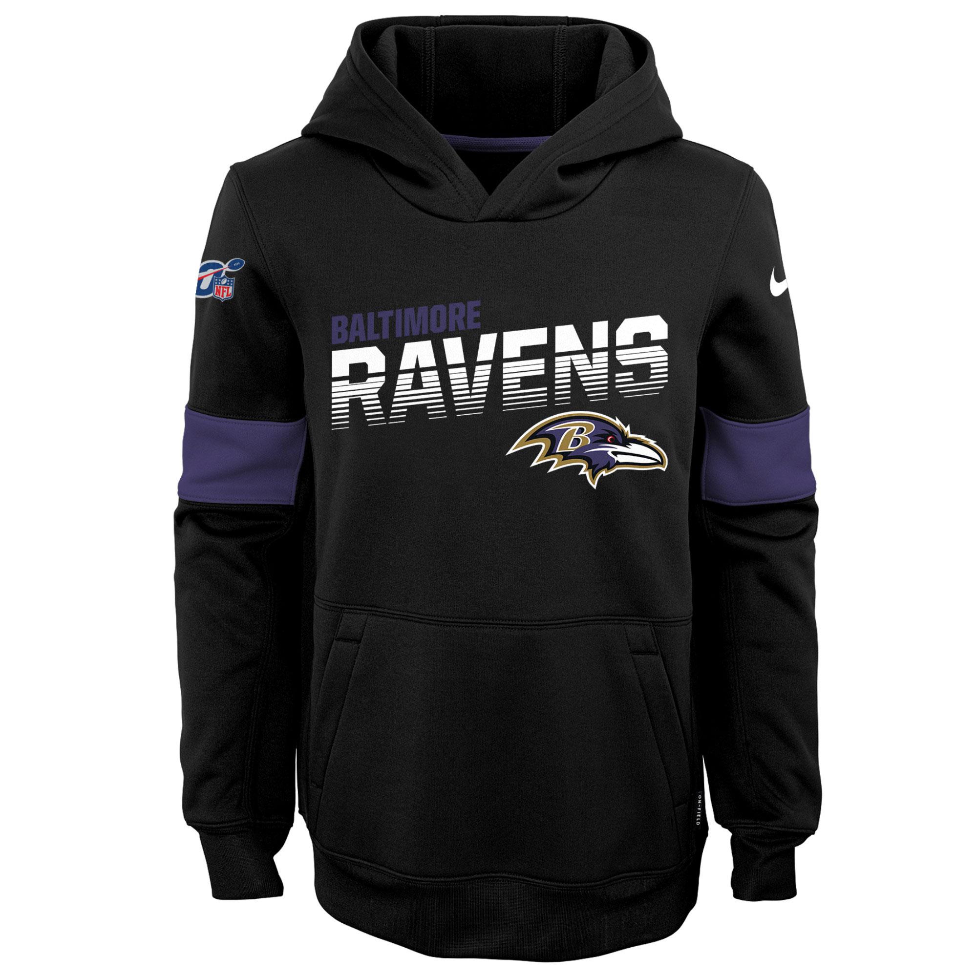 Baltimore Ravens Therma-Kapuzenpullover - Schwarz - Kinder