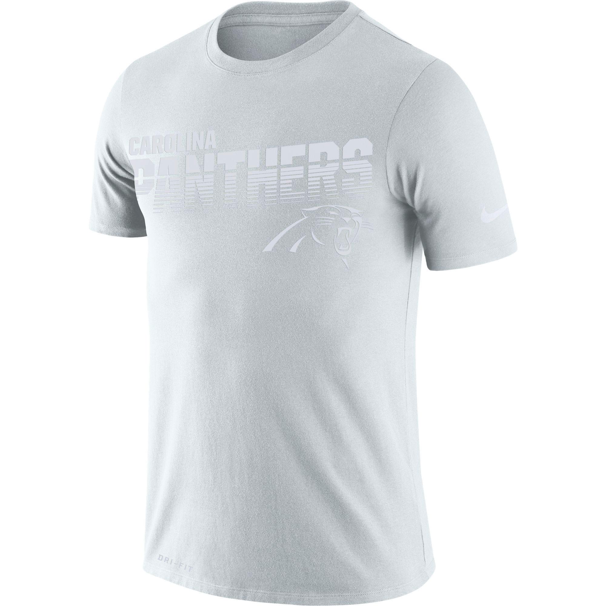 Carolina Panthers Nike NFL 100 Years Sideline T-Shirt - Mens
