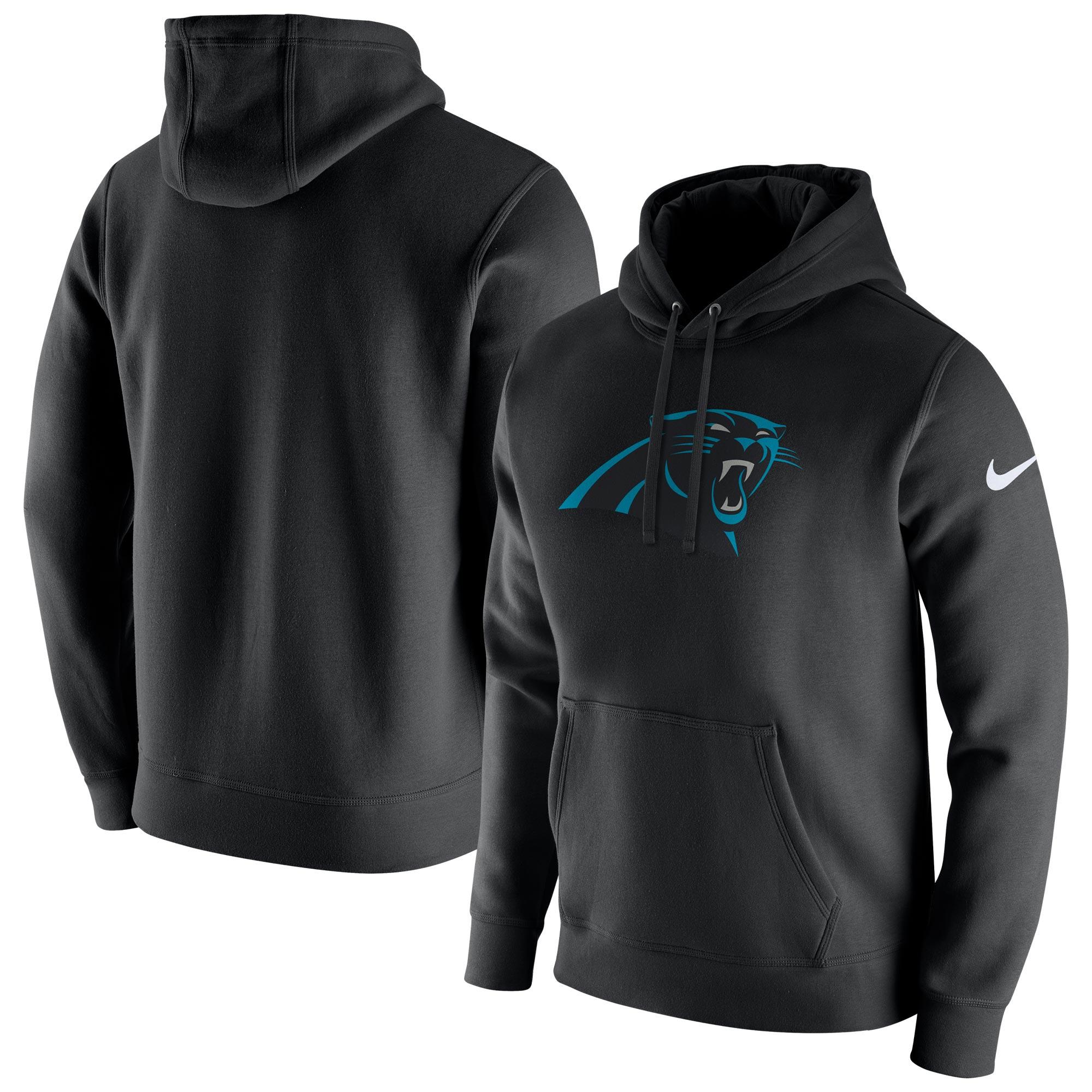 Carolina Panthers Nike Klub-Kapuzenpullover aus Fleece - Herren