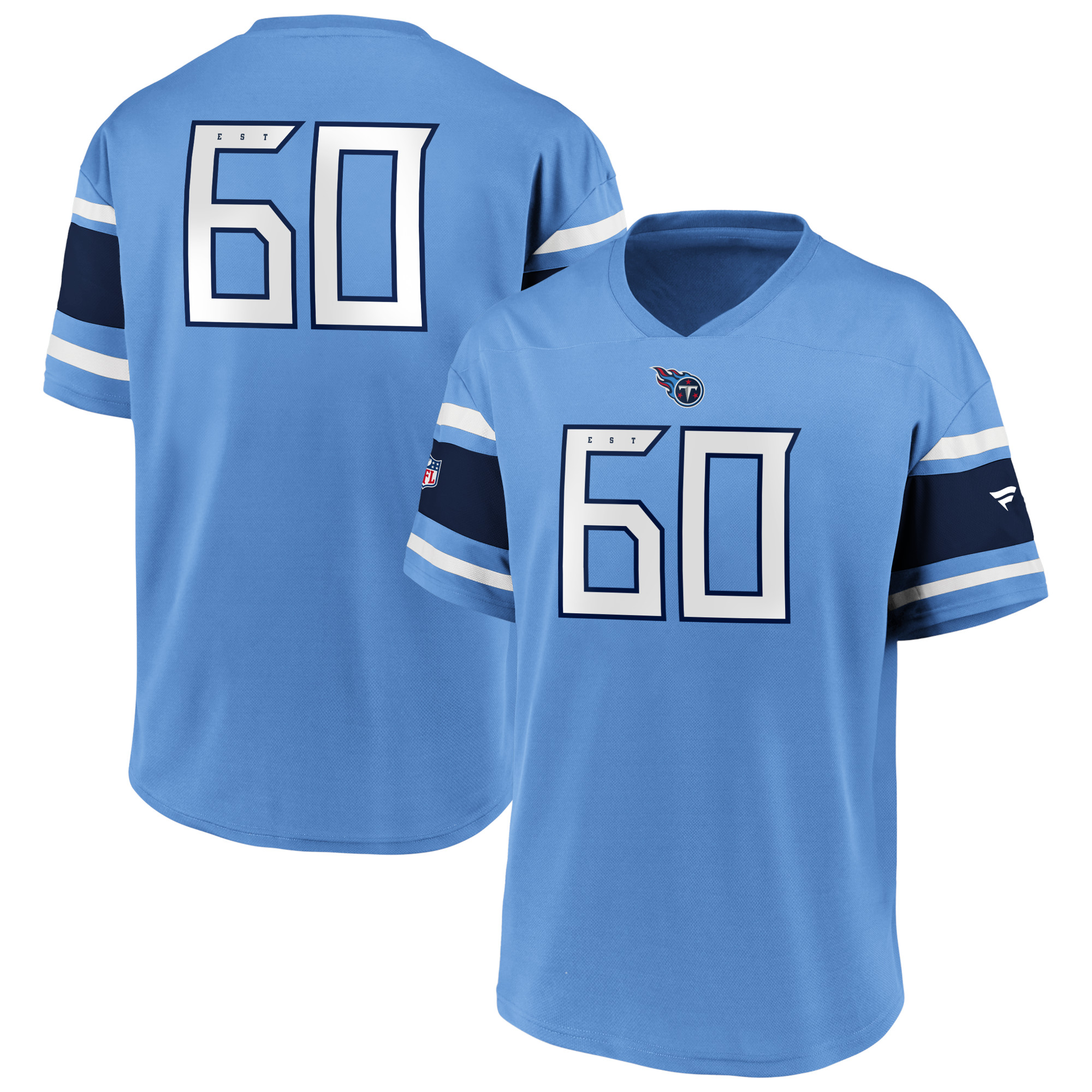 Tennessee Titans Franchise Poly Mesh Jersey - Sky - Adult