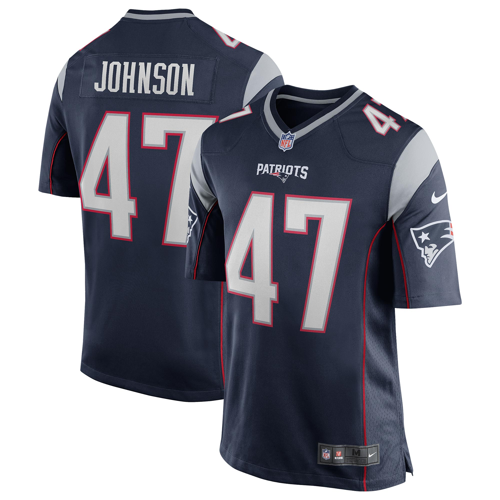 New England Patriots Home Game Jersey - Jakob Johnson - Mens