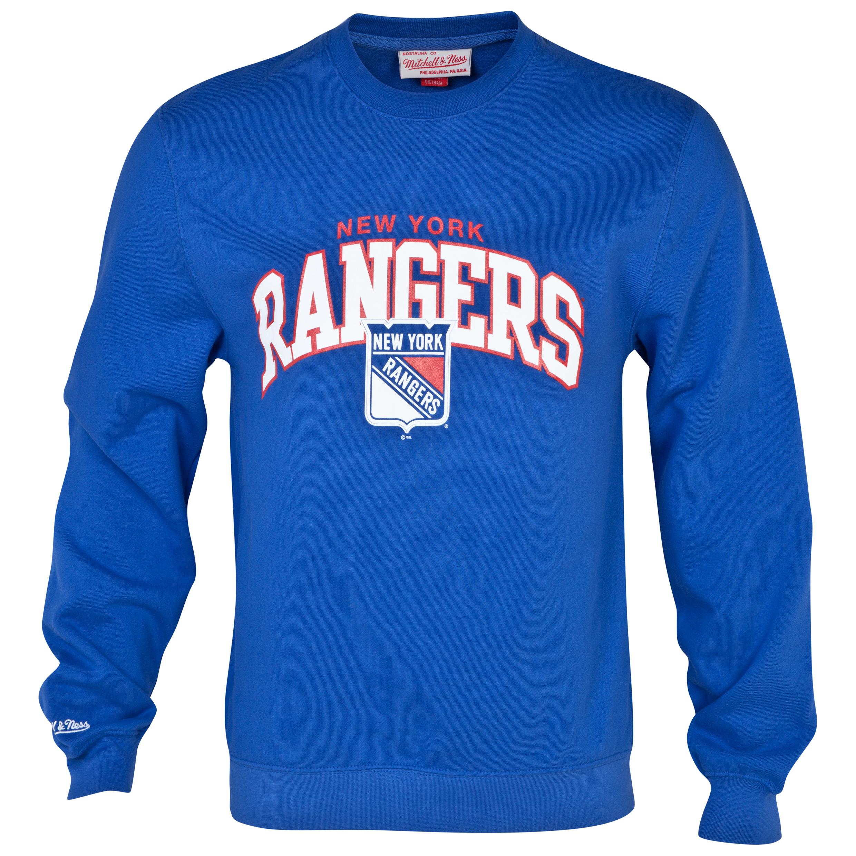 New York Rangers Team Arch Crew Sweatshirt Royal Blue