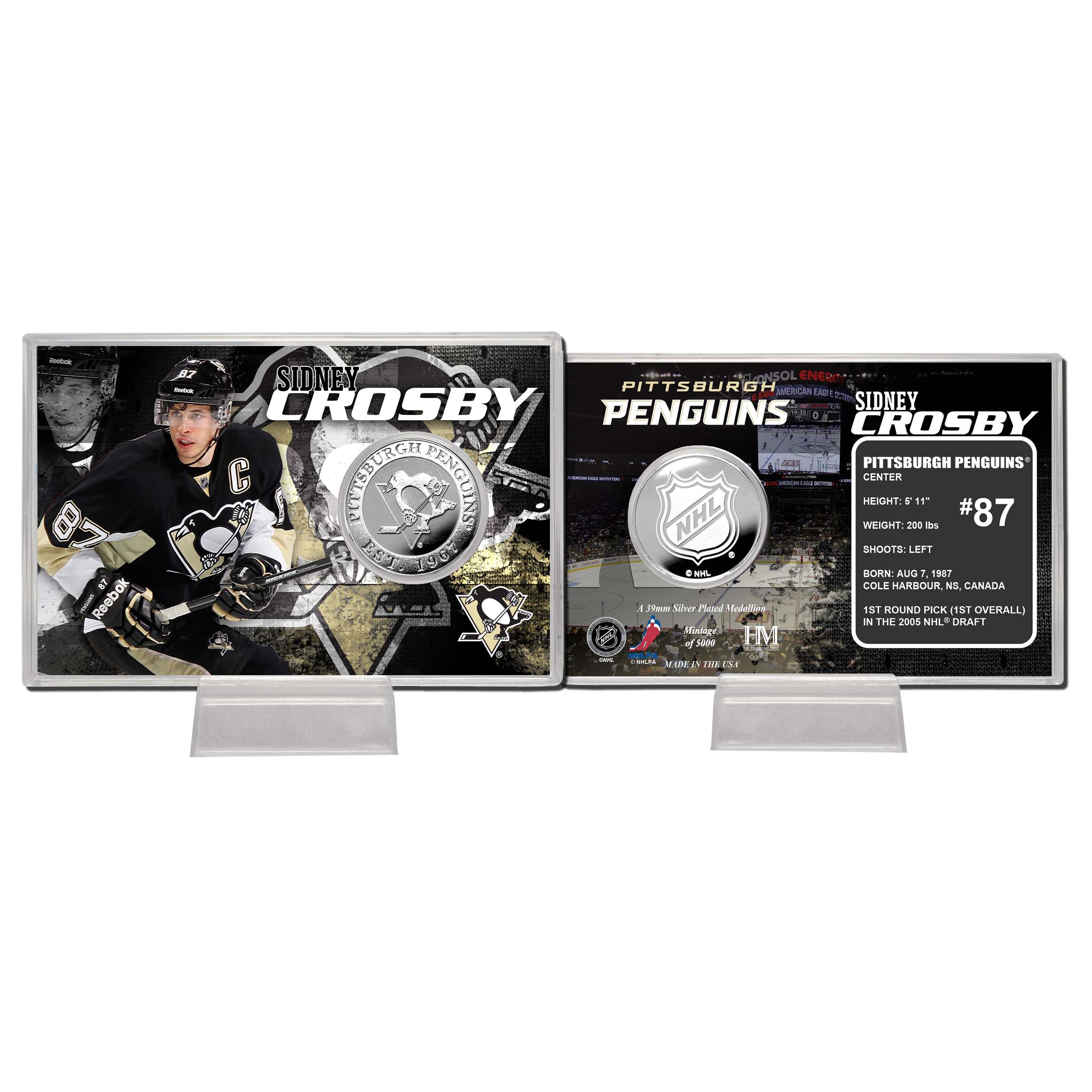 Pittsburgh Penguins Sidney Crosby Silver Coin Card