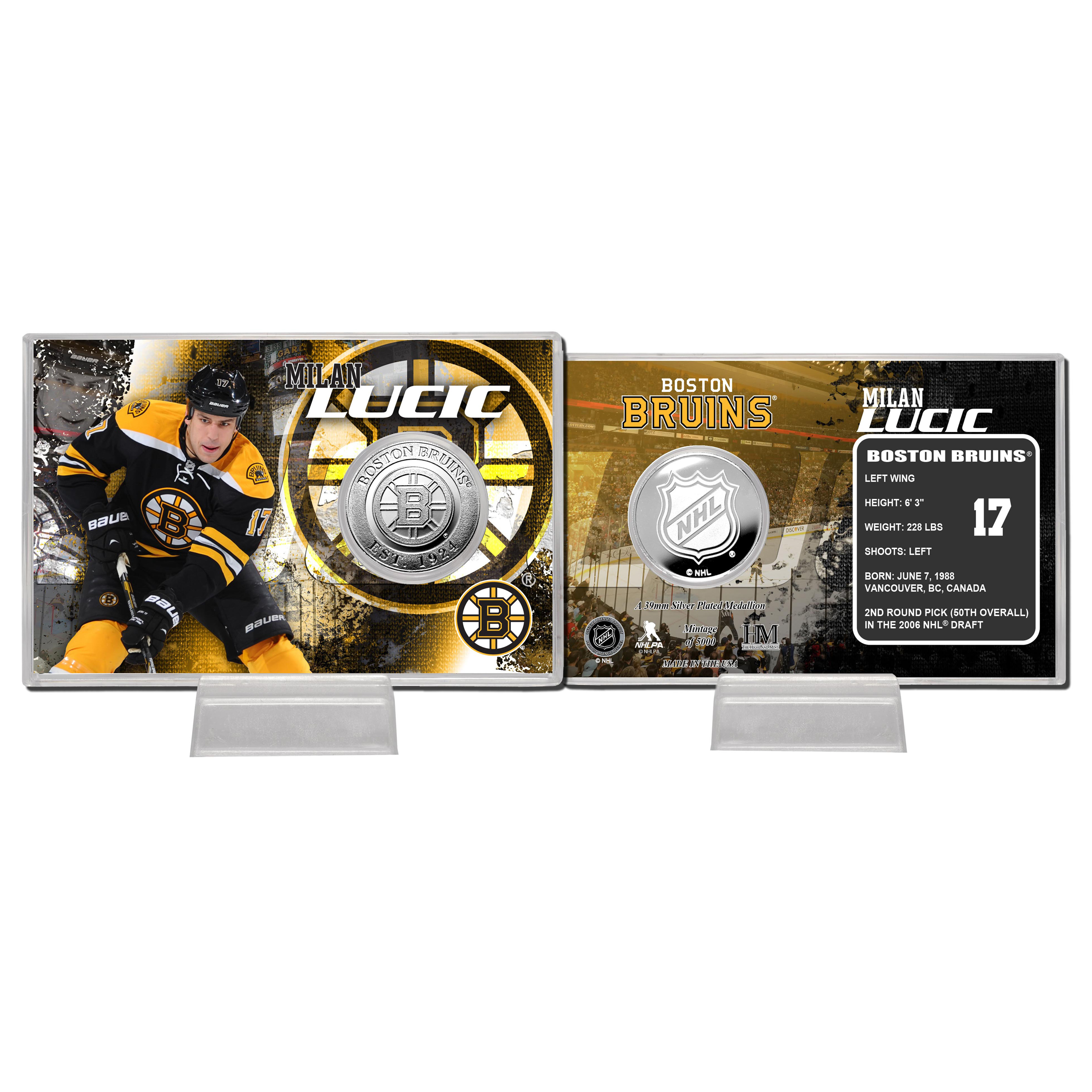 Boston Bruins Milan Lucic Silver Coin Card