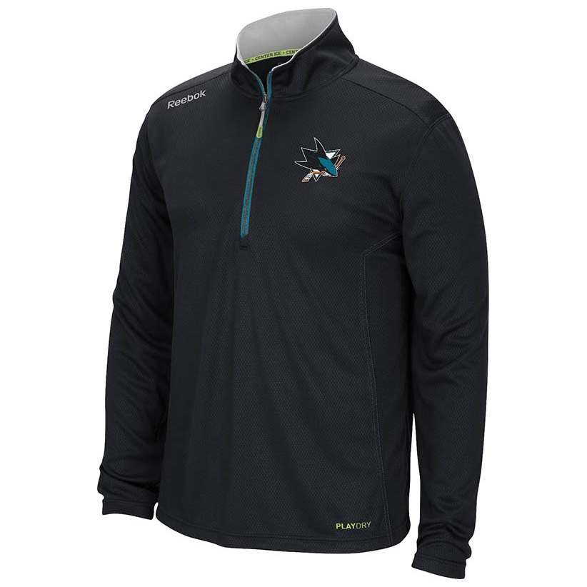 San Jose Sharks Centre Ice Baselayer Quarter Zip Sweat