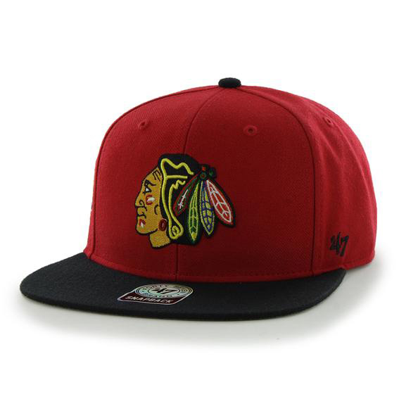 Chicago Blackhawks Sure Shot Two Tone Snapback Cap