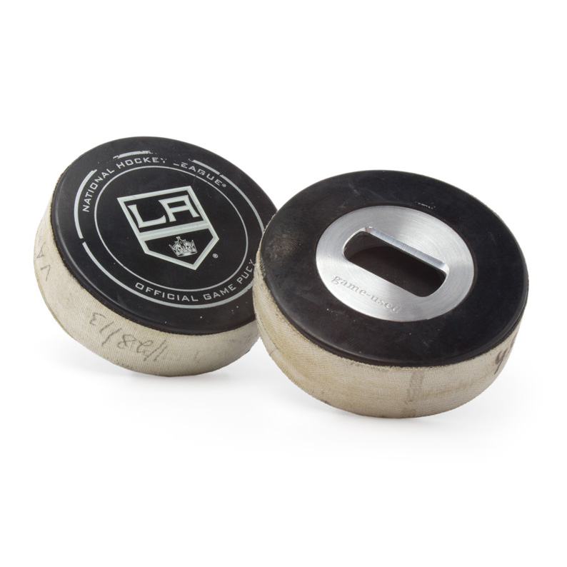 Los Angeles Kings Game-Used Puck Bottle Opener